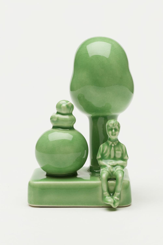 Curious Green   Ceramic, glazes, multi-fired