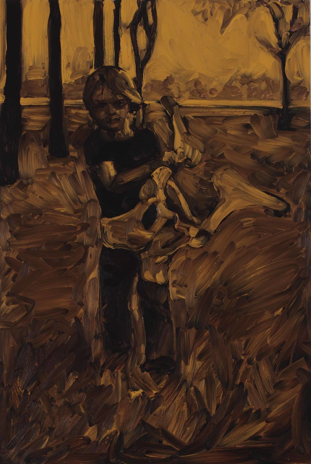 untitled, oil on board, 60 x 40 cm, 2008.