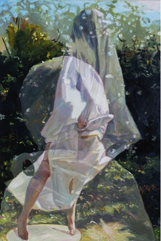 Poking the Ghost Skin, oil on board, 60 x 40 cm, 2012. Private collection.