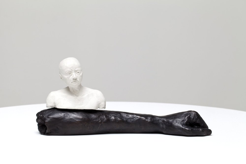 Forearmed, bronze, polymer modelling clay,  15 x 34 x 10cm, 2011. Photography by Ashley Barber, Sarah Cottier Gallery.