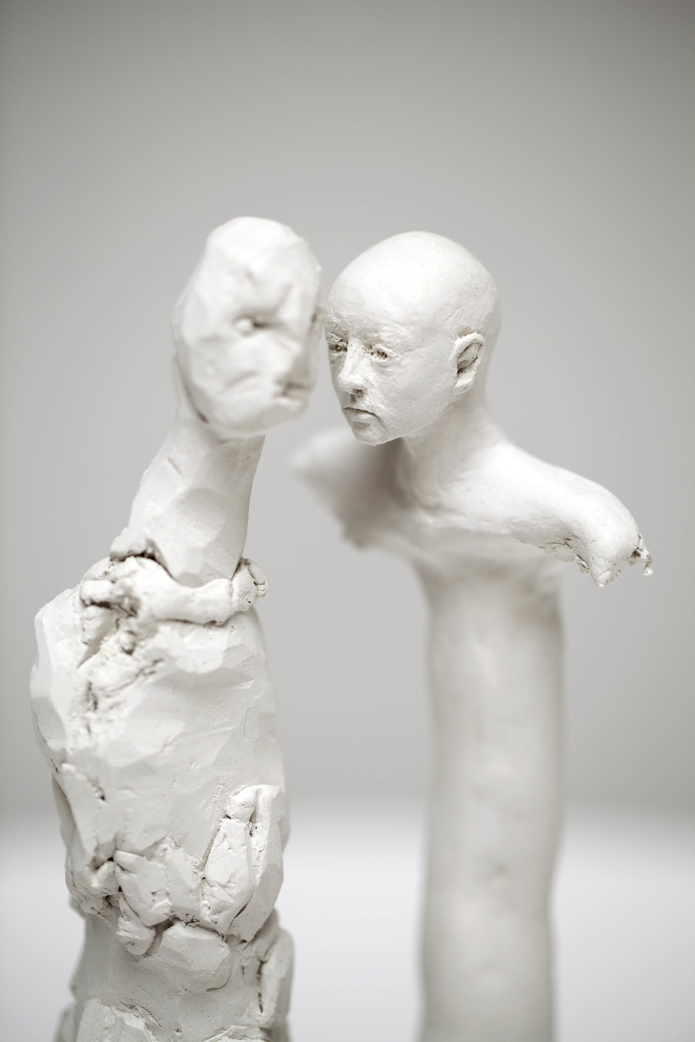 Man Mountain meets Whispering Woman, bronze, polymer modelling clay  25 x 15 x 10cm, 2011. Photography by Ashley Barber, Sarah Cottier Gallery. Private collection.