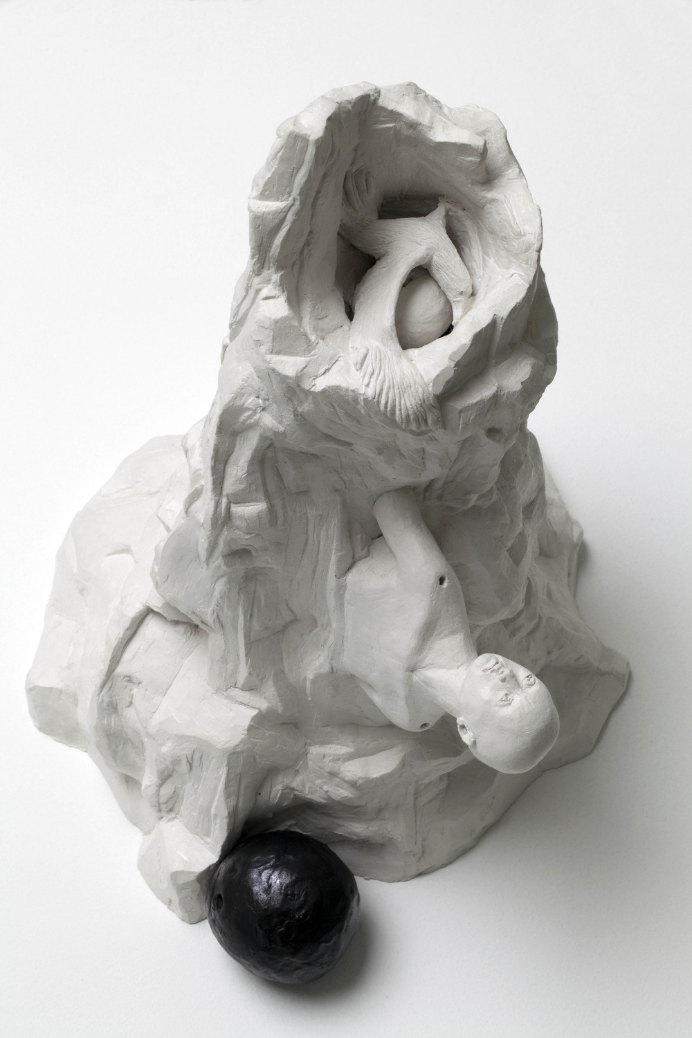 Top Down Trek, bronze, polymer modelling clay,  38 x 27 x 26 cm, 2011. Photography by Ashley Barber, Sarah Cottier Gallery.