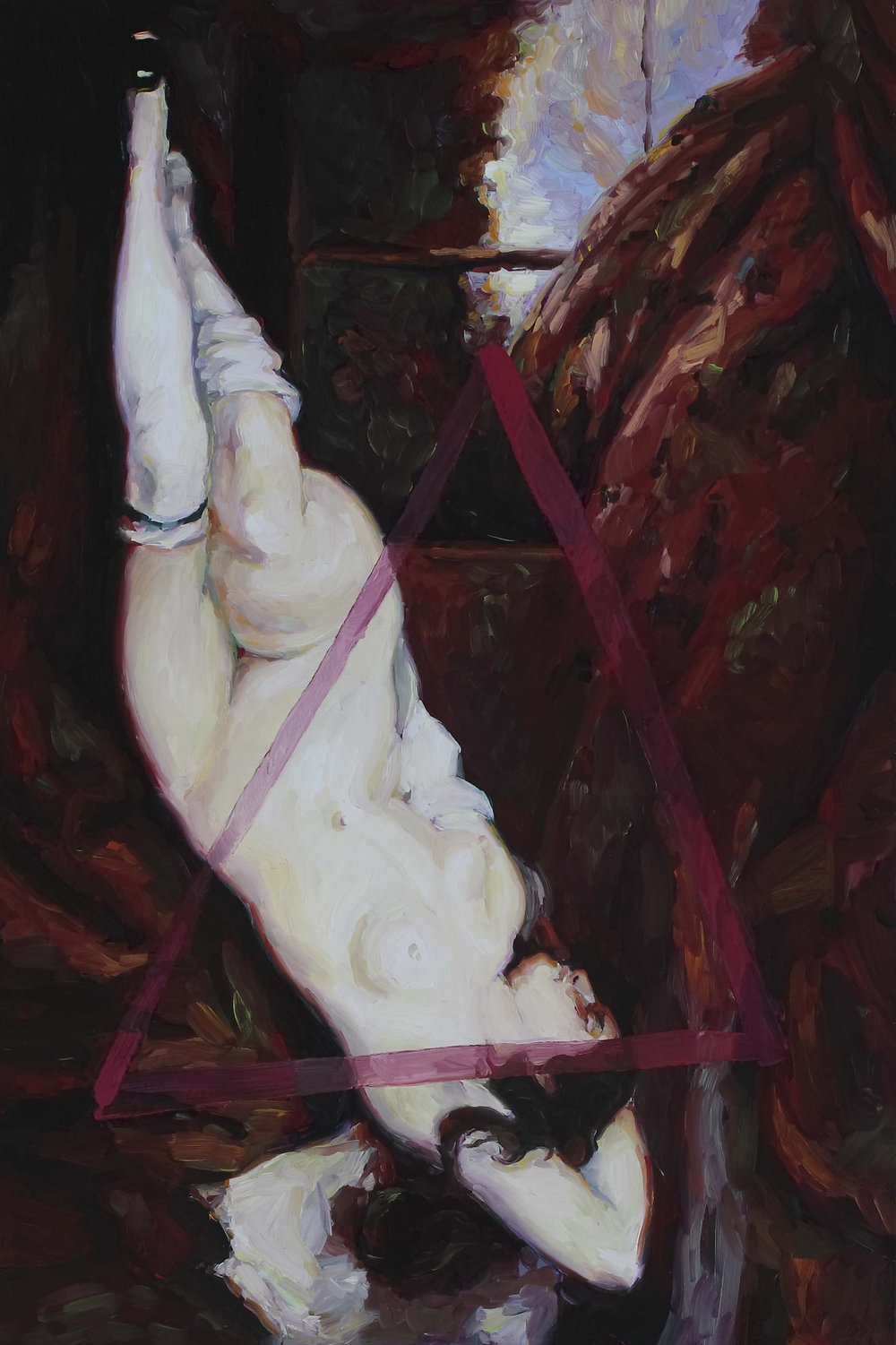Inverted Woman of the Sort, oil on board 60 x 40 cm, 2008.
