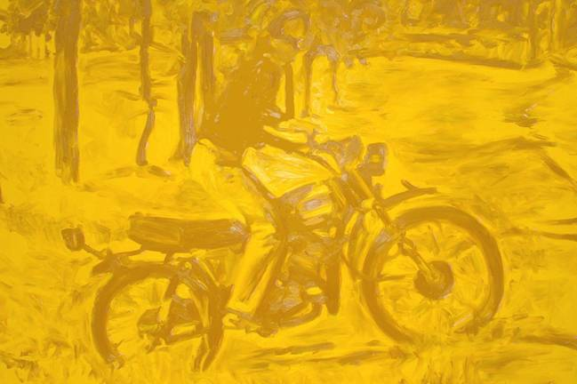 A Couple of Tricks #1 (Cadmium Yellow), oil on canvas, 130 x 190 cm, 2006.