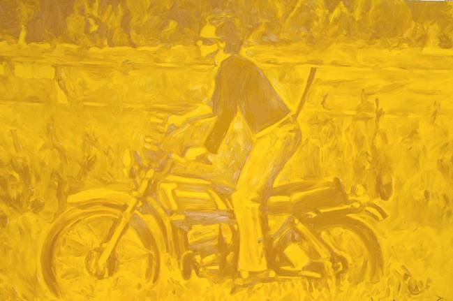 A Couple of Tricks #2 (Cadmium Yellow), oil on canvas, 130 x 190 cm, 2006.