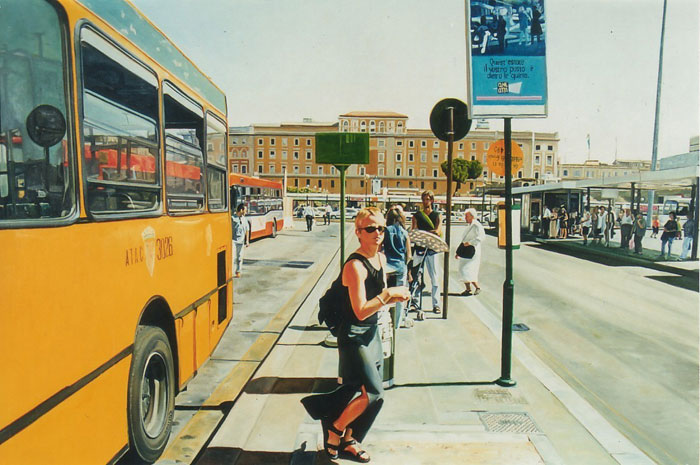 Bus No. 64, oil on canvas, 100 x 150 cm, 1999.