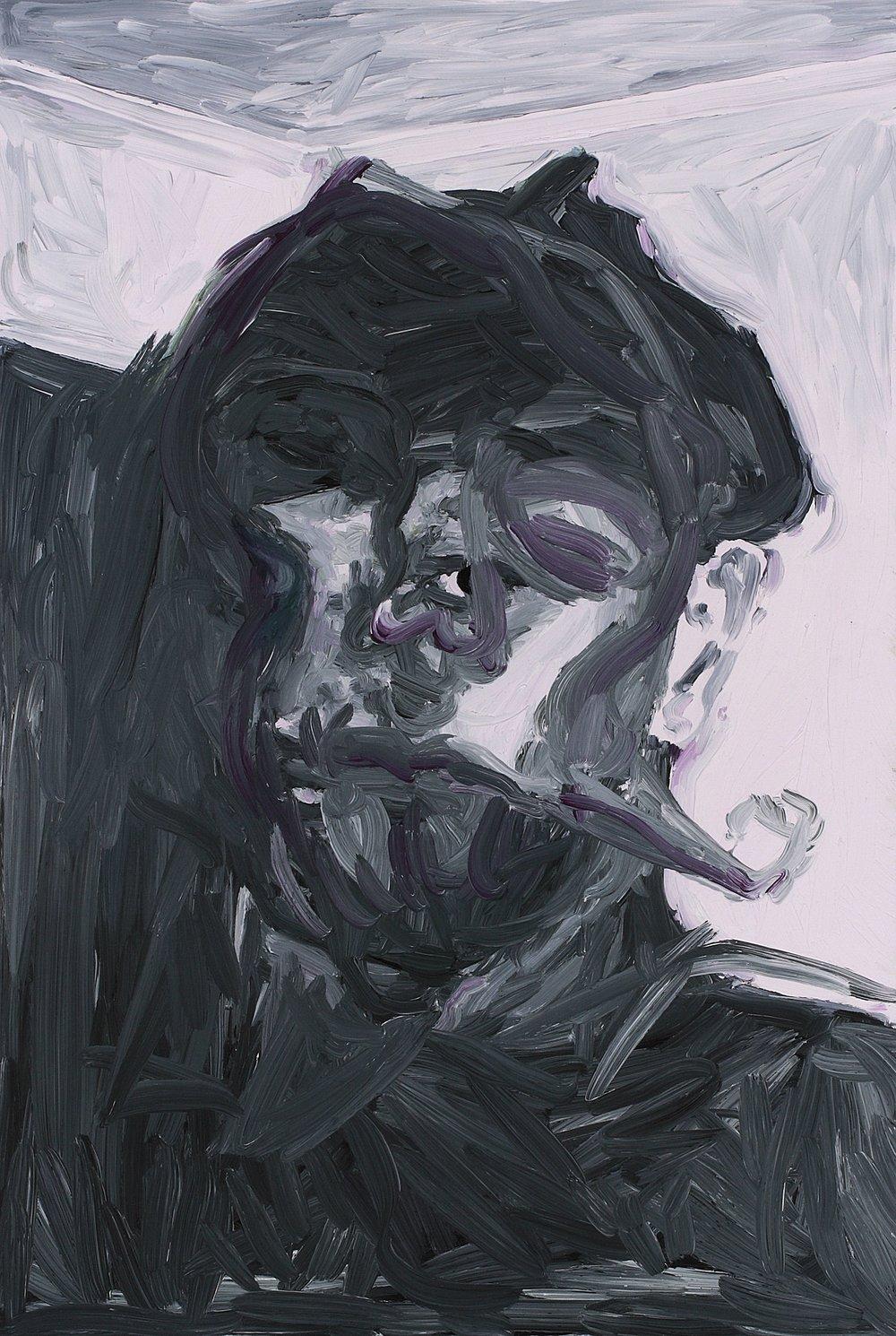 David M Thomas, oil on board, 60 x 40 cm, 2008.