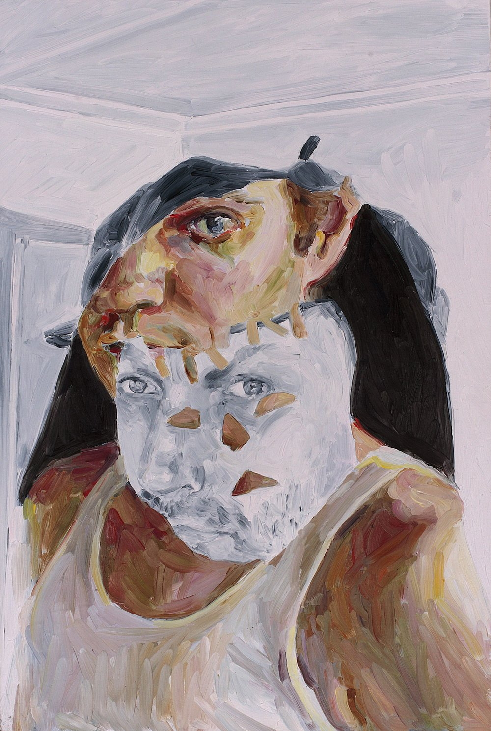 Nicholas Chambers and David M Thomas, oil on board, 60 x 40 cm, 2008.