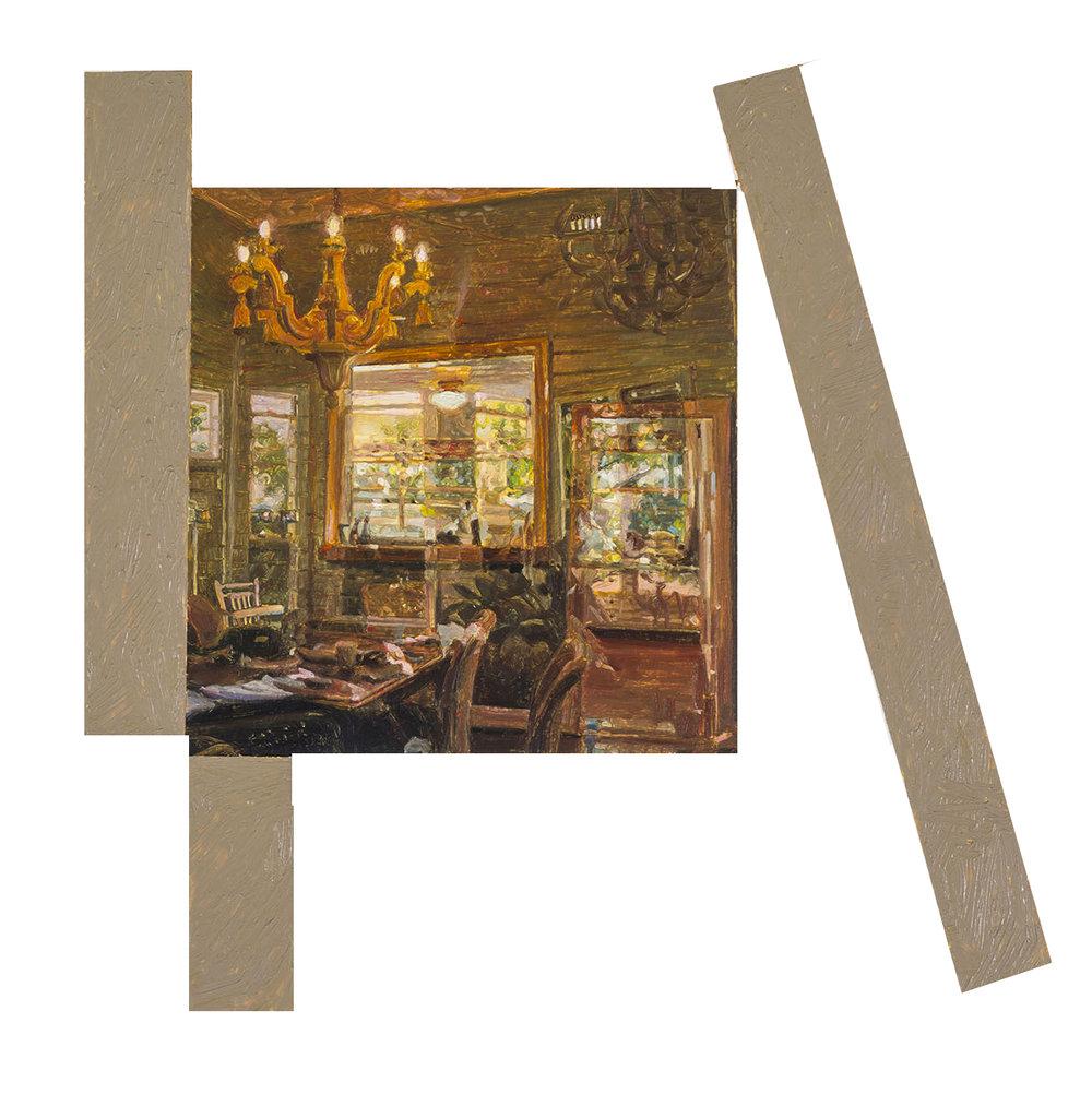 Built Environment #1 (detail), oil on paper, 67.5 x 50 cm (image 21.5 x 21.5 cm), 2016. (Sarah Cottier Gallery).