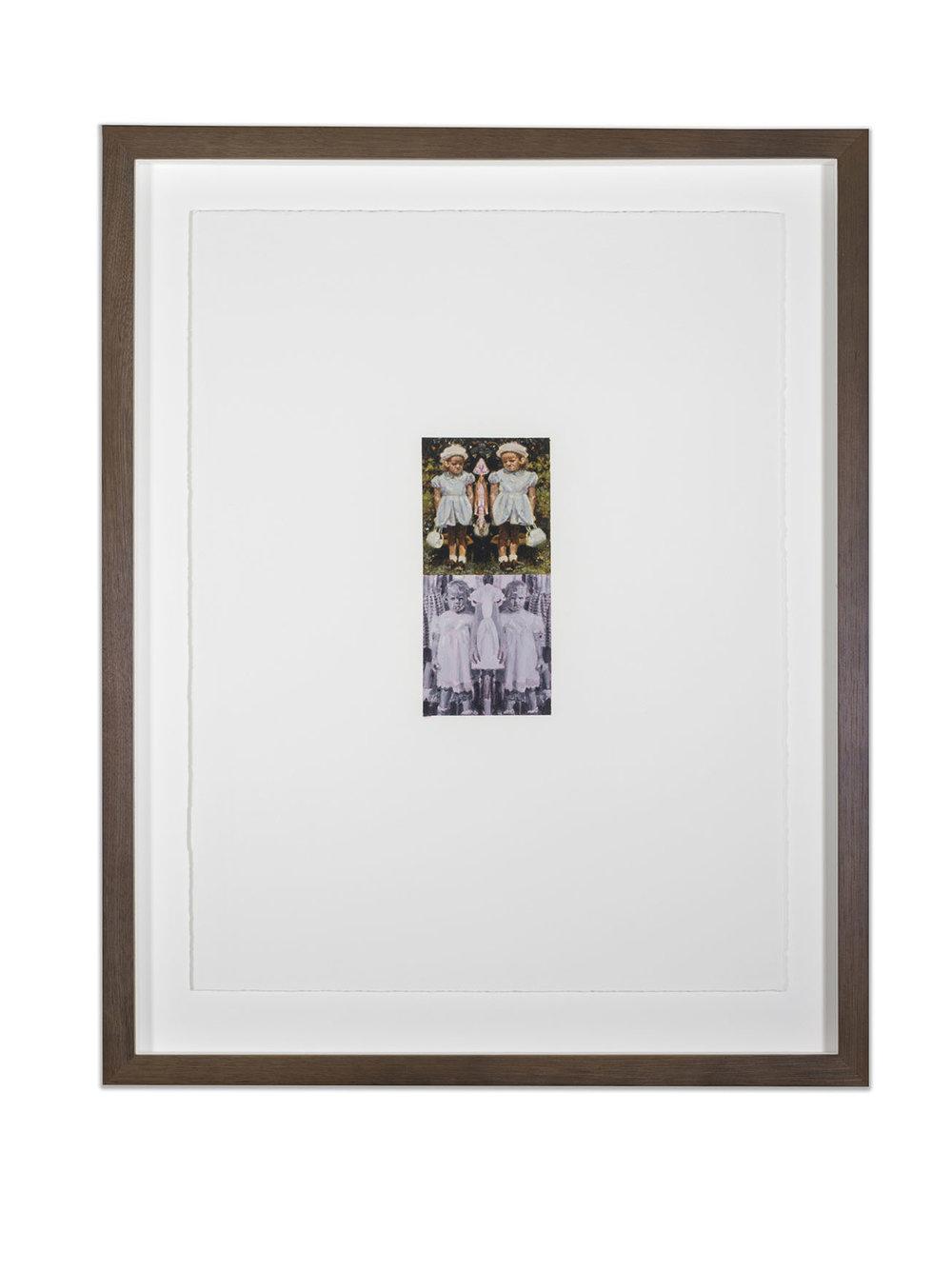 HSP Response (Susan Frances Skelton), oil on paper, 50 x 38 cm, (image 18 x 8 cm), 2016. (Private Collection).