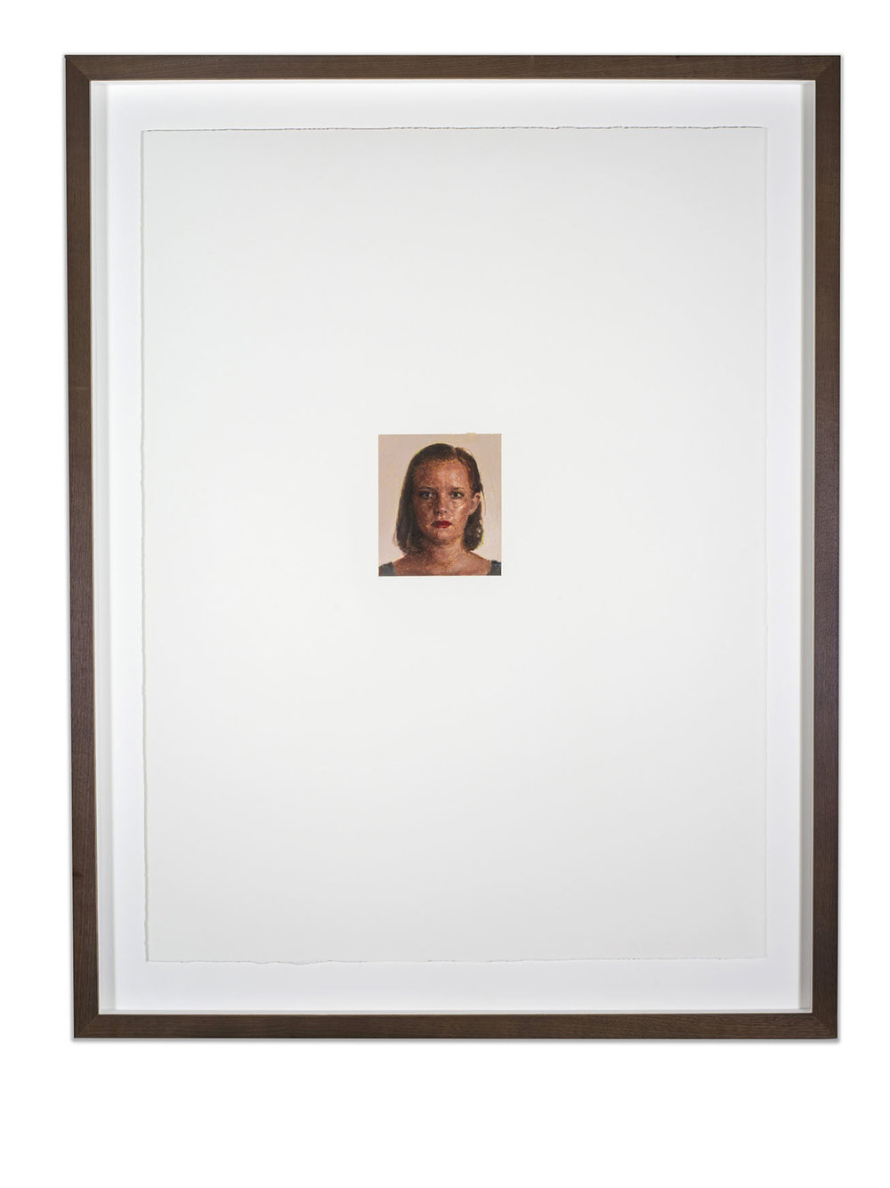 Portrait of Susan Frances Fragar, oil on papoer, 67.5 x 50 cm, (image 10 x 11.5 cm), 2016. (Private collection).