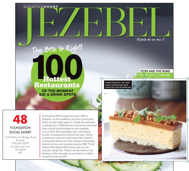 "March 2016 - Jezebel's ""100 Hottest Restaurants"""