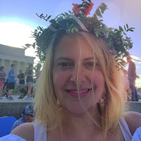 Me at Wianki Summer Solstice 2017