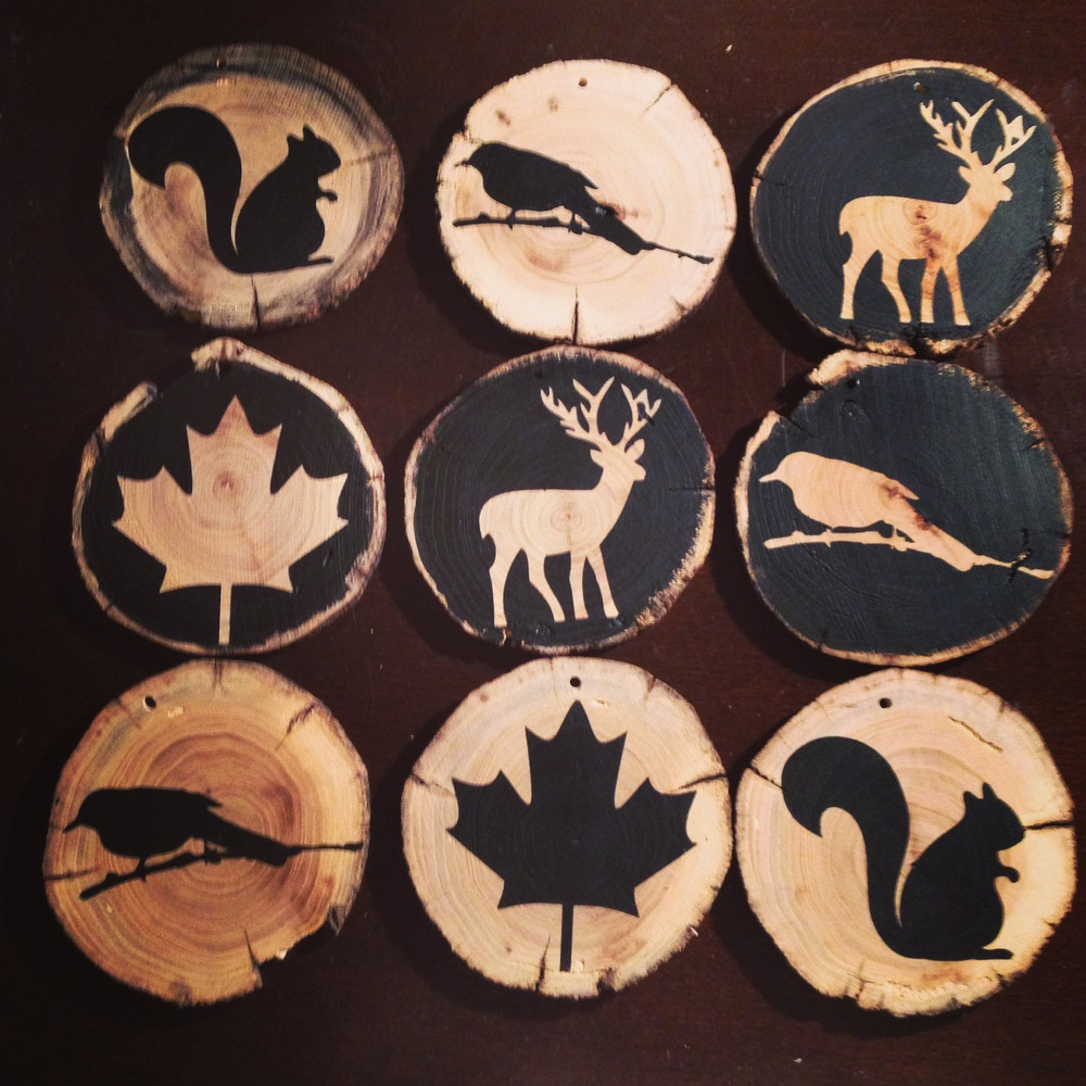 Painted wooden shapes for crafts - Wooden Disc Ornaments
