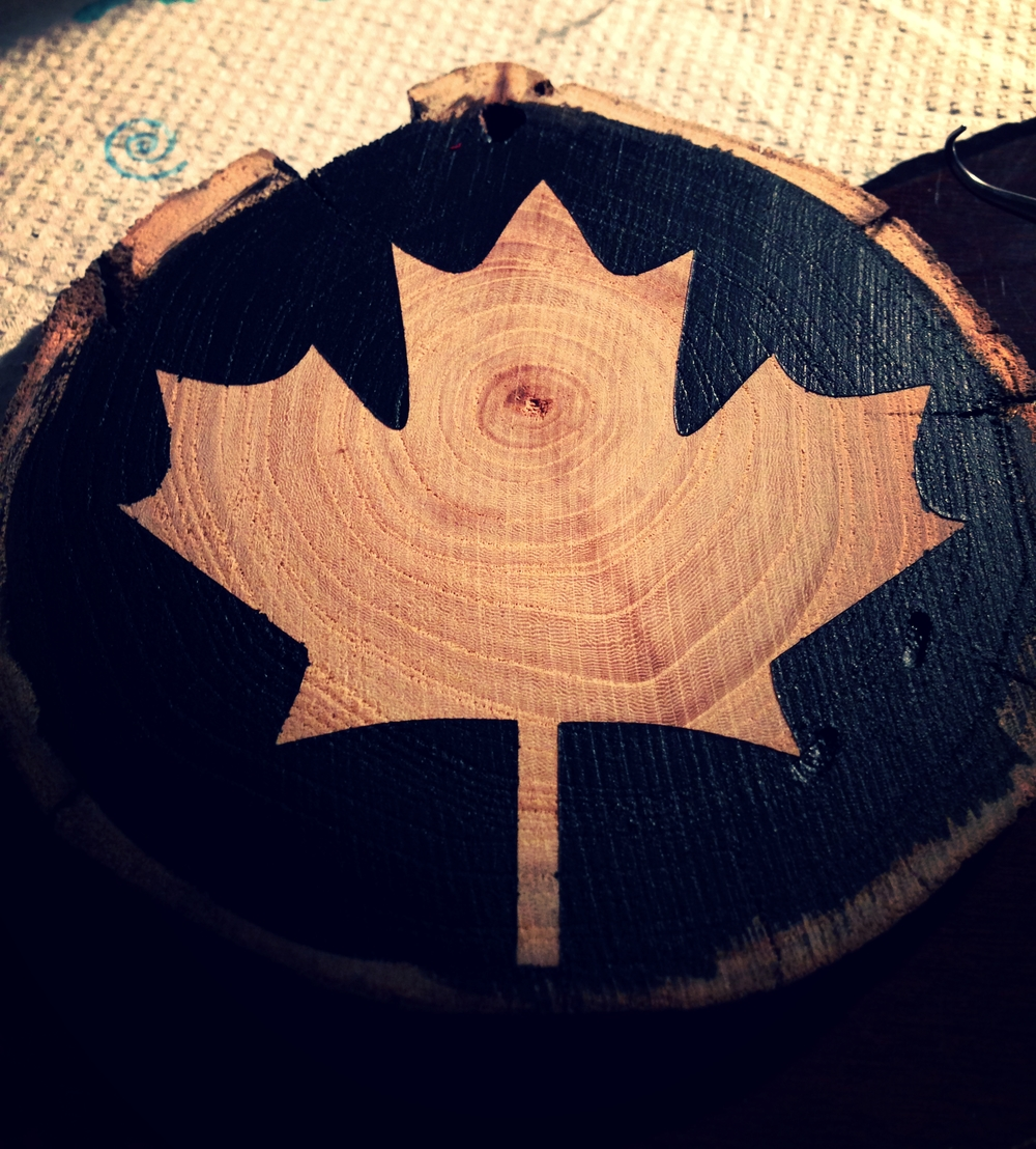 Canadian Maple Lead Ornament