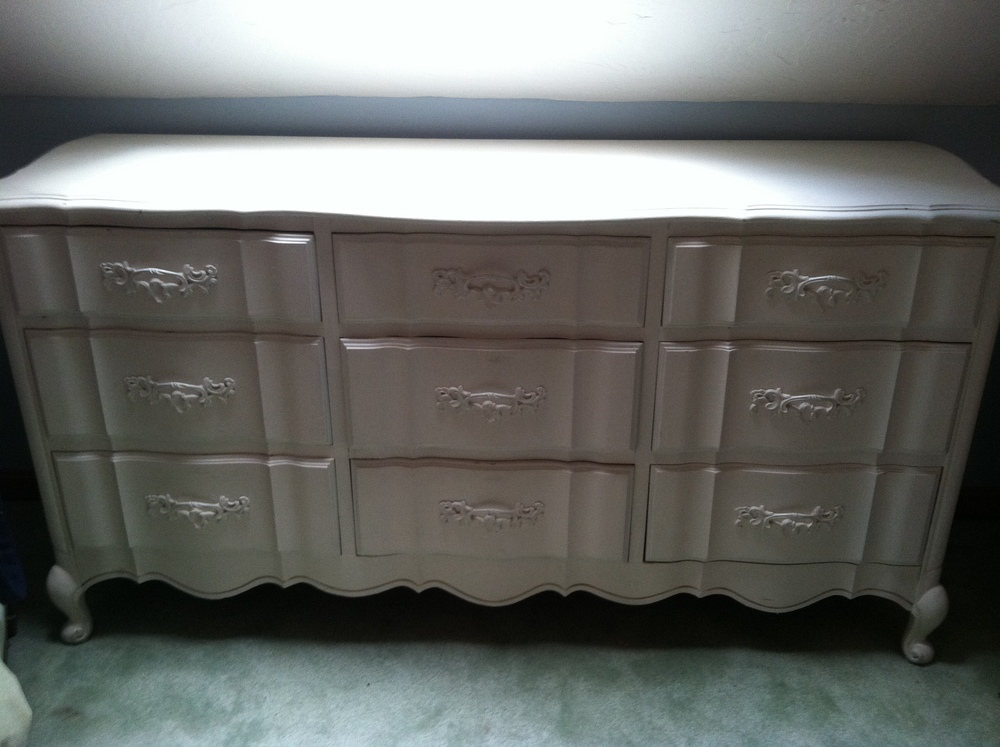 DIY Lace Painted Bedroom Set Weekend Craft