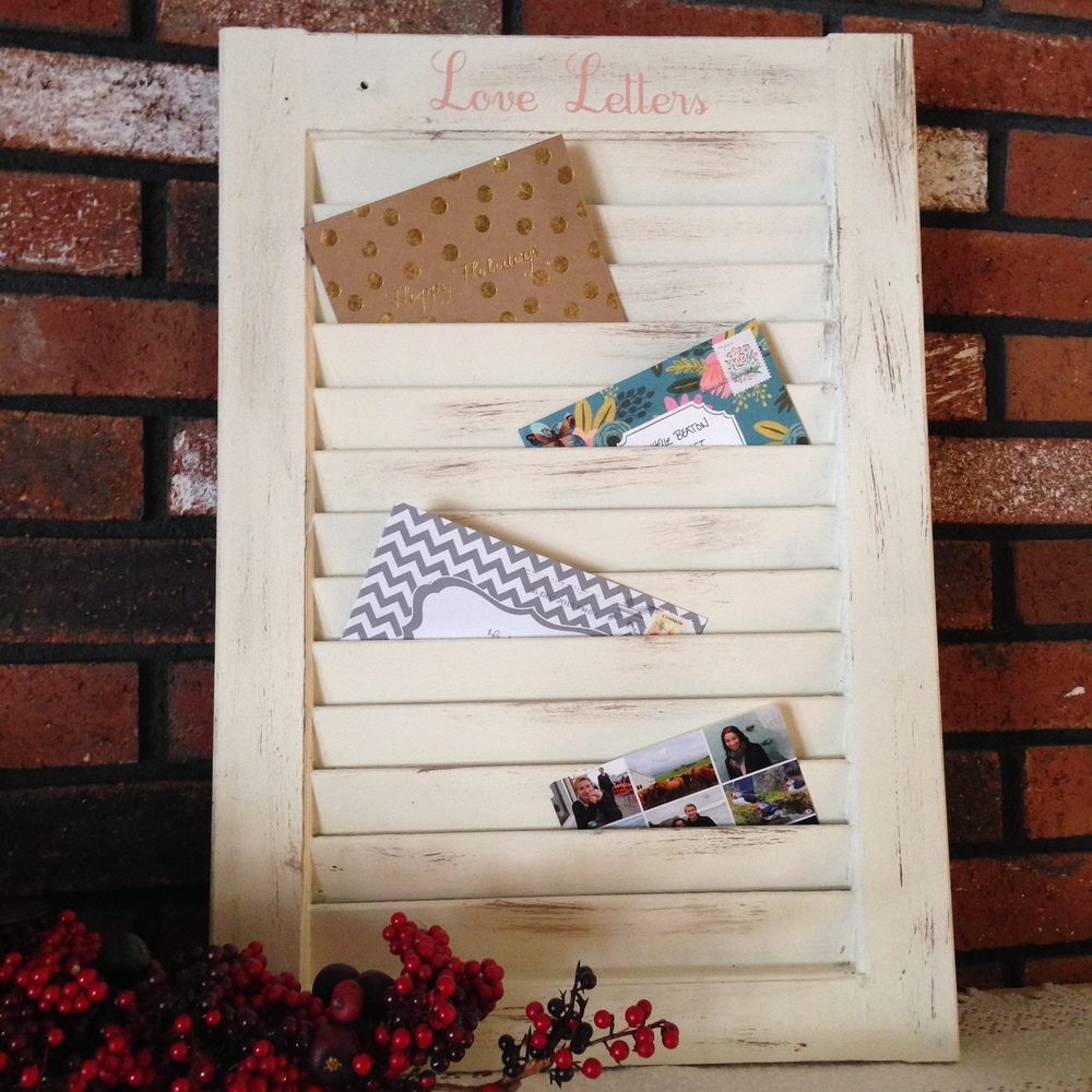 DIY Window Shutter Mail Organizer