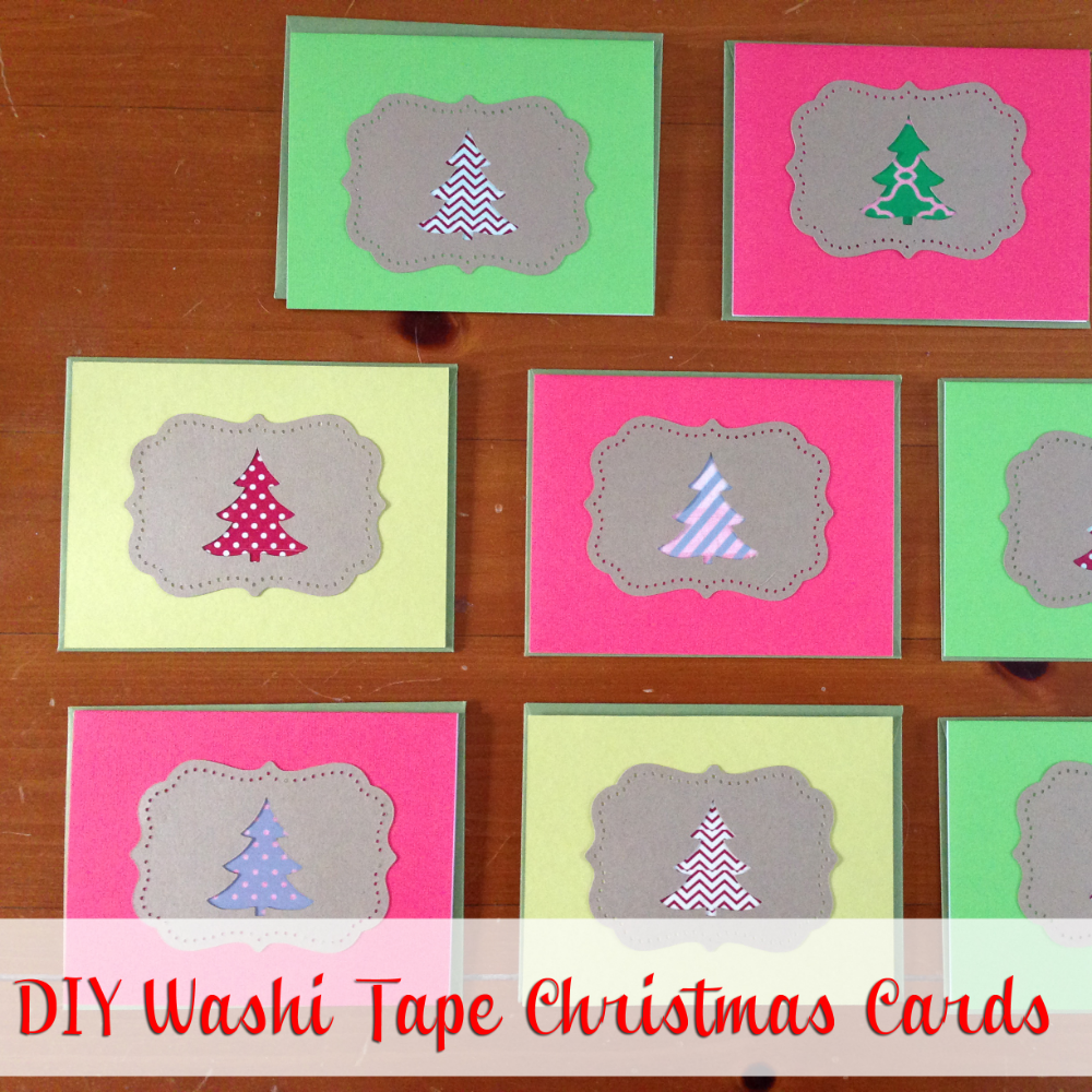 DIY Washi Tape Christmas Cards