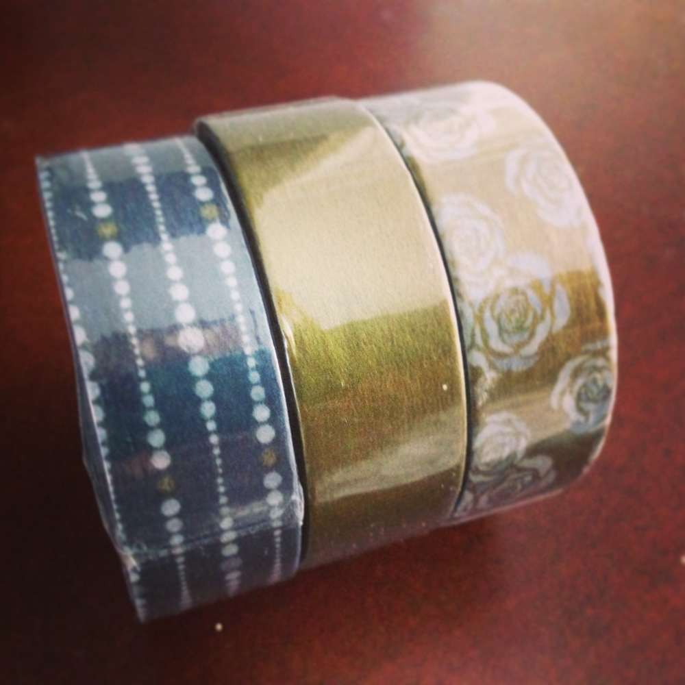 set of 3 silver and gold washi tape