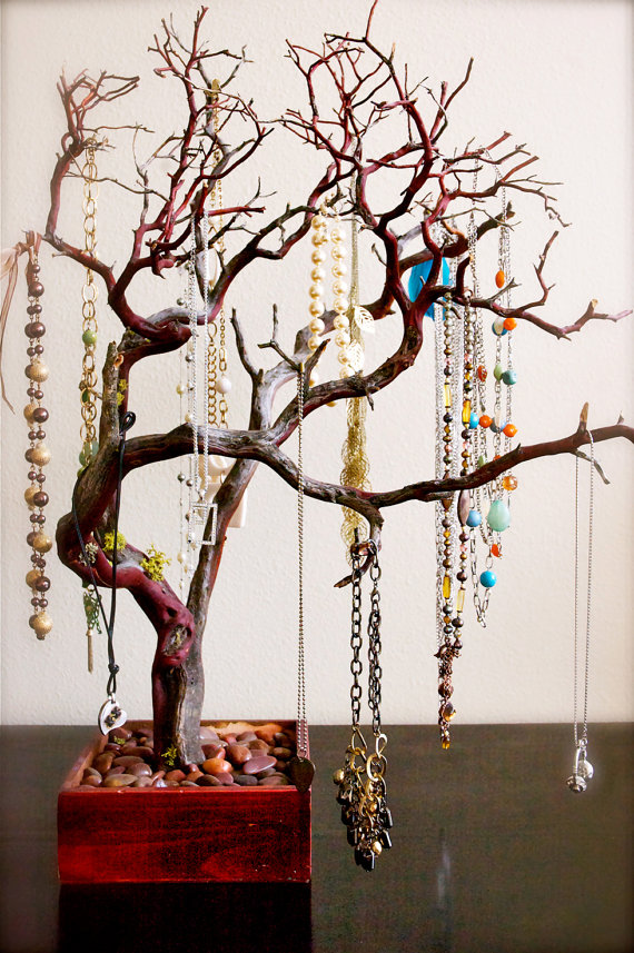 "30"" Red Jewelry Tree / Jewelry Organizer by    heartnotincluded"