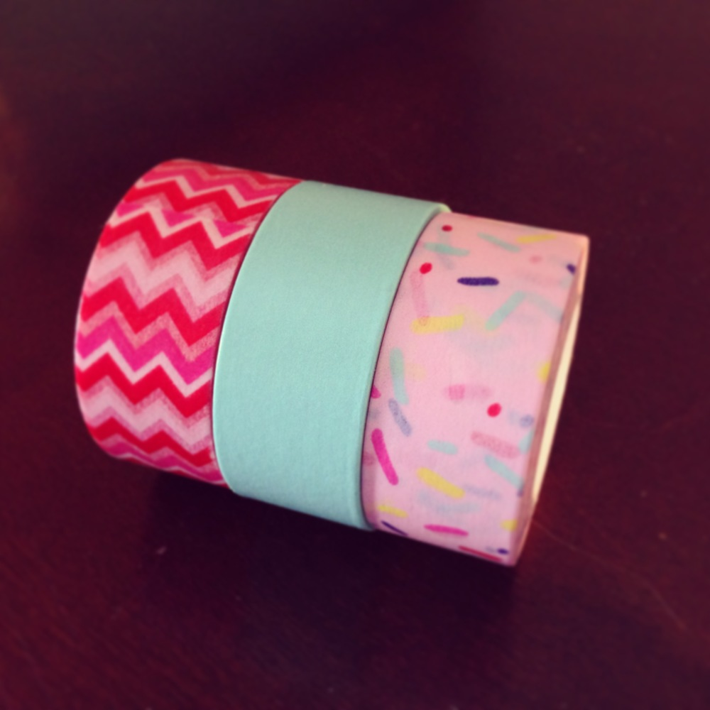 Set-of-three-washi-tape-chevron-teal-sprinkle-on-etsy