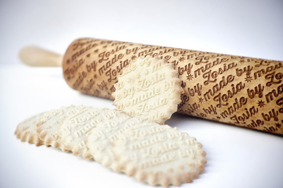 Personalized rolling pin by   ValekRollingPins