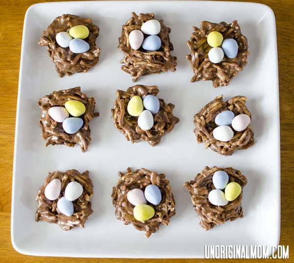 chocolate-peanutbutter-easter-egg-nests