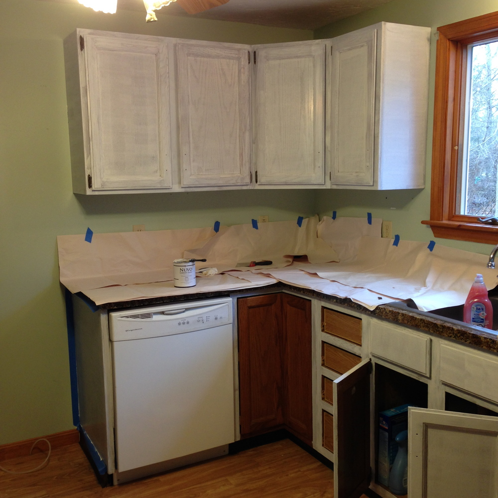 Under $350 Kitchen Makeover ? Part Two Painted Kitchen Cabinets