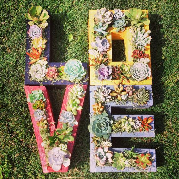 Monogrammed Letter Succulent Planter! by   SucculentWonderland