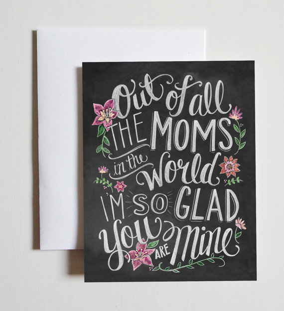 Card For Mom - Chalkboard Art by    LilyandVal