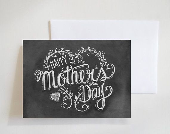 Happy Mother's Day - Chalkboard Art by    LilyandVal