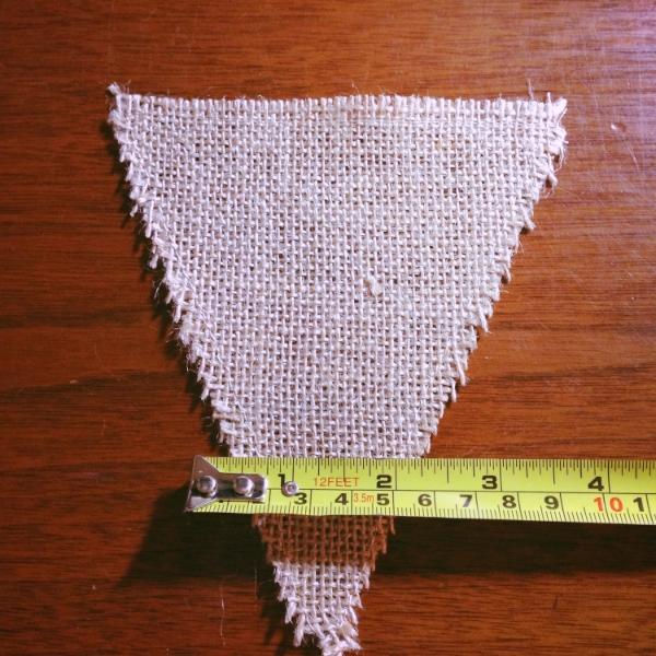 burlap triangle