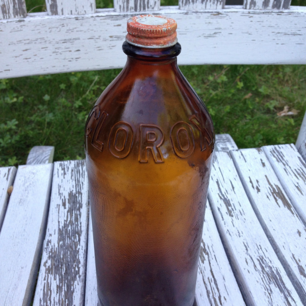 Vintage Clorox Glass Bottle