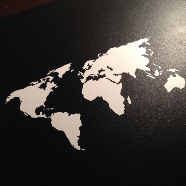 chalk and vinyl world map