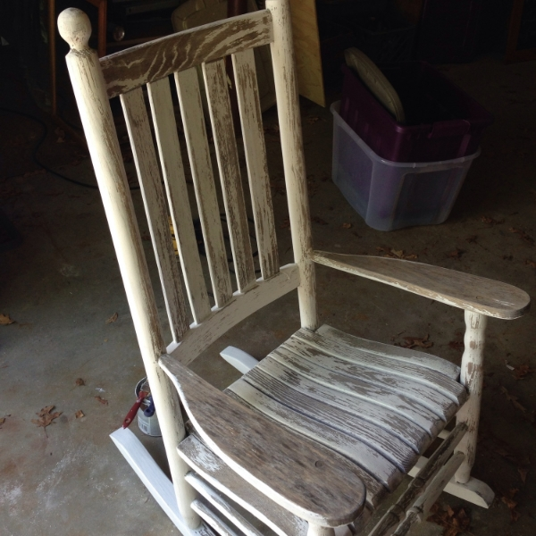 sanded rocking chair