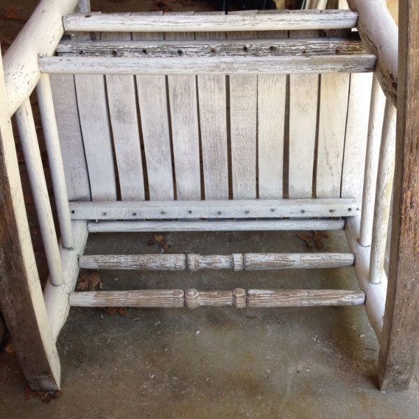 rocking chair underneath