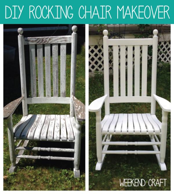 Weekend Craft DIY Rocking Chair Makeover