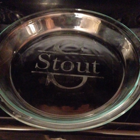 etched pie plate