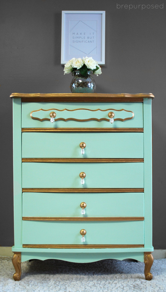 Mint French Provincial Dresser By View From the Fridge