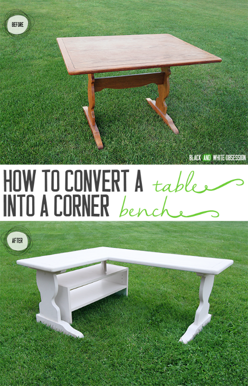 DIY How to make a table into a bench