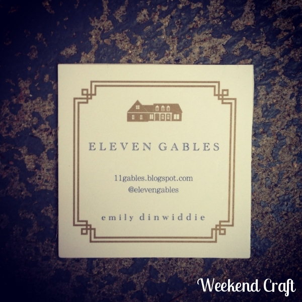 Eleven Gables Business Cards