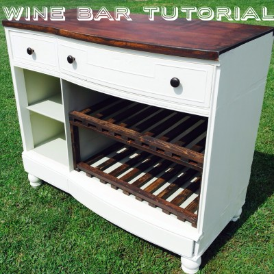 DIY Dresser to Bar