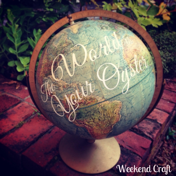 The World is Your Oyster Globe from Weekend Craft