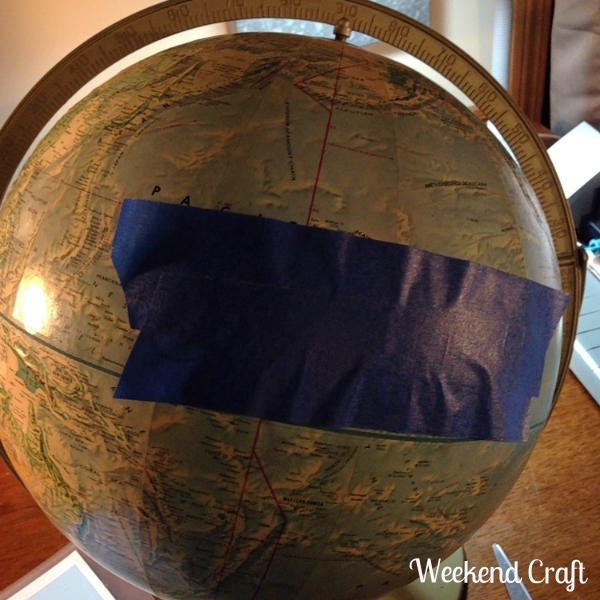 Transferring vinyl onto a globe