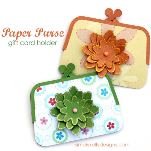 Paper purse gift card holder