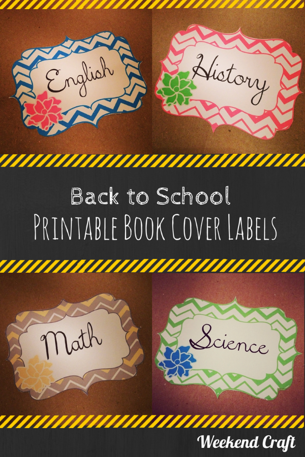 School Book Cover Printable : Back to school printable subject labels and