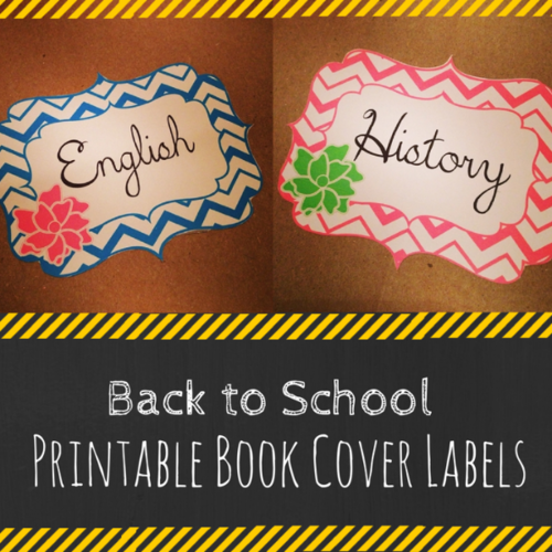 Back to School Printable Book Cover Labels