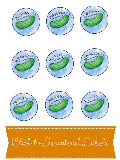 Printable Mason Jar Pickle Labels