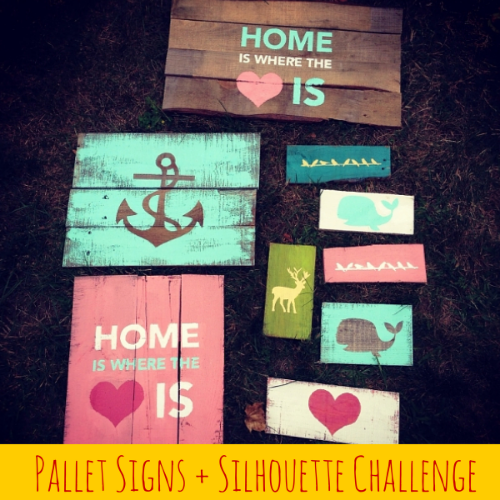 Pallet Signs and Silhouette Challenge