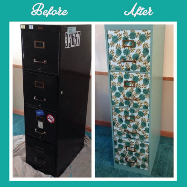 Filing Cabinet Before And After